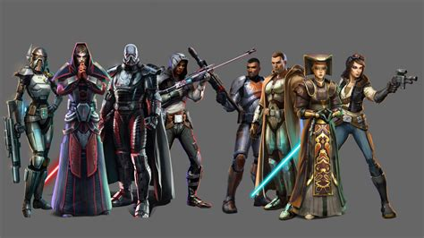 Characters From Star Wars The Old Republic Hd Desktop