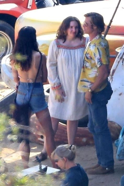 Lena Dunham Films Scenes With Brad Pitt for 'Once Upon a