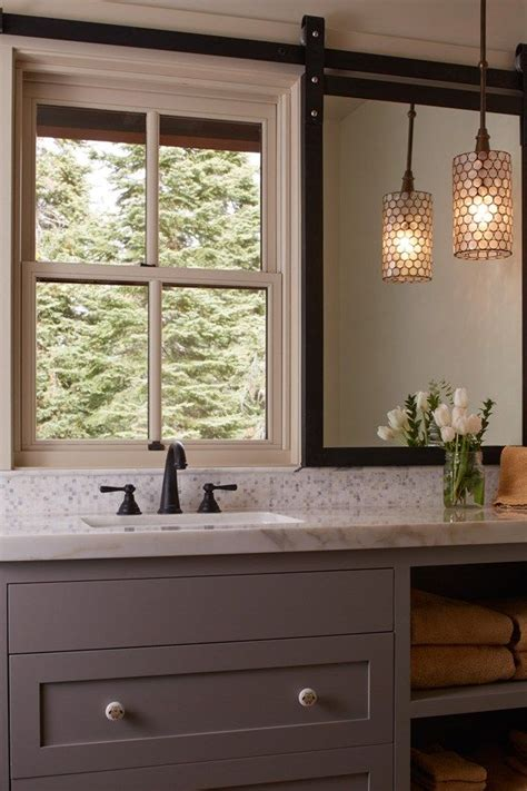 placing mirrors in front of windows | Bathroom mirrors