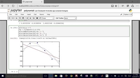 Linear and Polynomial Regression in Python - YouTube
