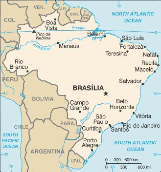Brazil Country Flag Map Capital City Population Location