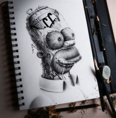 The Pencil Drawings of Pierre-Yves Riveau a