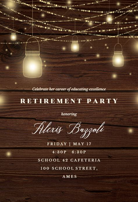Strings of lights - Retirement & Farewell Party Invitation