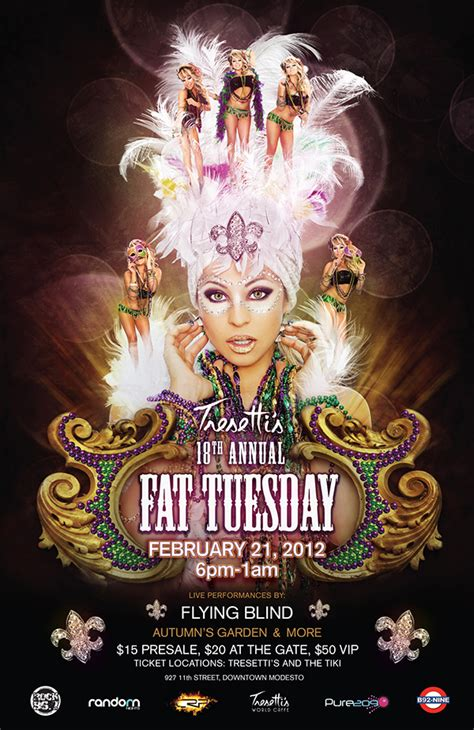 Tresetti's Fat Tuesday Poster on Behance