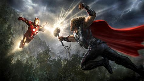 Thor And Iron Man The Avengers Marvel Movies Full Hd