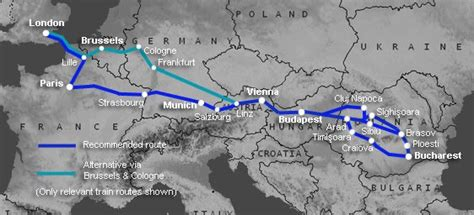 How to travel by train from London to Bucharest & Romania