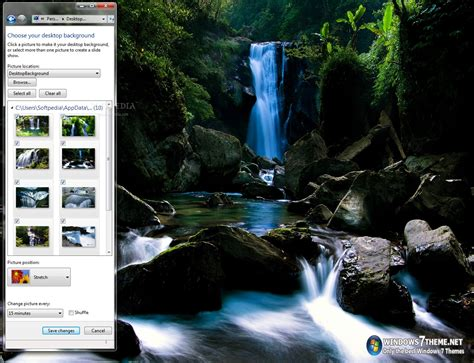 Download Waterfalls Windows 7 Theme with sound 1