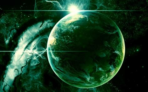 Green Outer Space Planet wallpapers | Green Outer Space