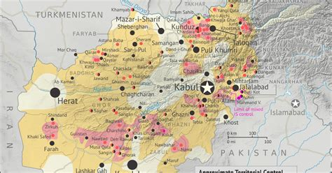 """2015 in Afghanistan: Map of Taliban and """"Islamic State"""
