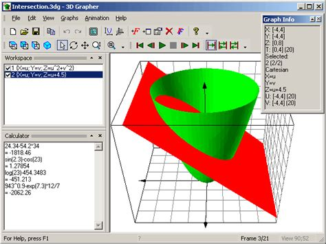 3D Grapher - plots animated 2D and 3D graphs of equations