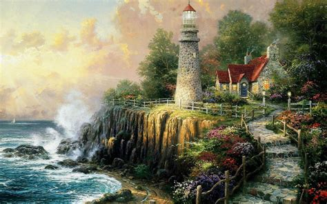 Light House Cottage wallpapers | Light House Cottage stock