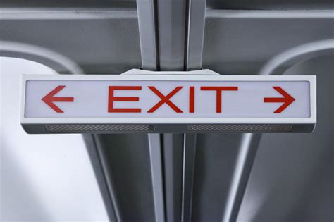 Dim Exit Sign with Arrows | ClipPix ETC: Educational
