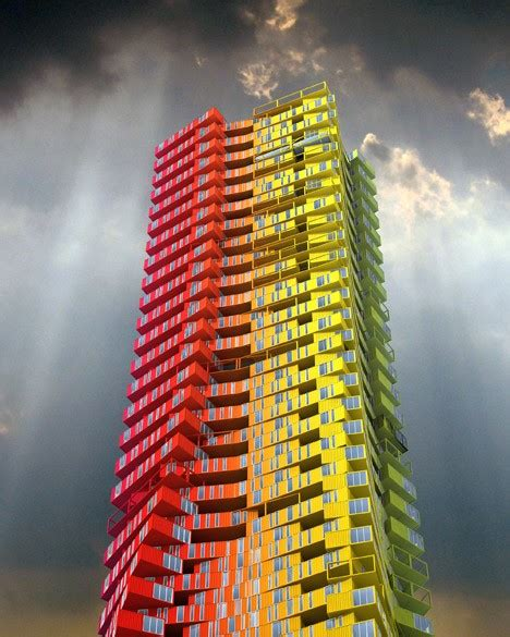 Shipping container skyscrapers envisioned to replace slum