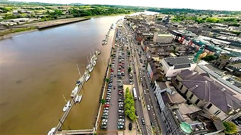 Aerial footage over Waterford City, Ireland - YouTube