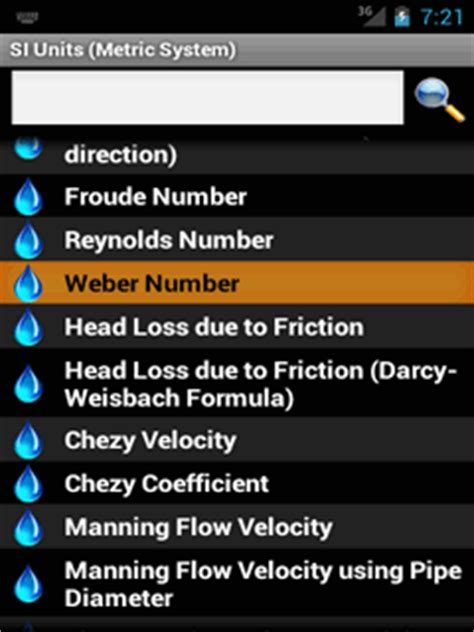 Home | Calculator | Hydraulics Calculator for Android