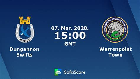 Dungannon Swifts Warrenpoint Town live score, video stream