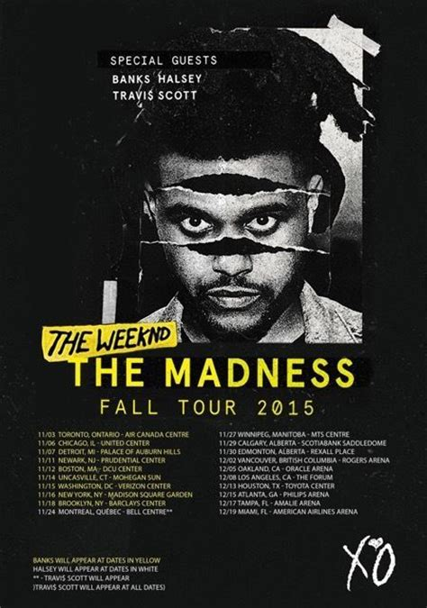 THE WEEKND The Madness Fall Tour 2015 PHOTO Print POSTER