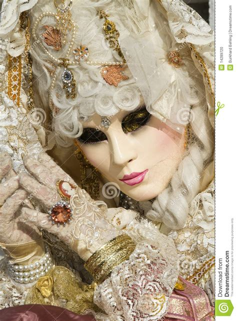 Beautiful Mask At Carnival In Venice Stock Photo - Image