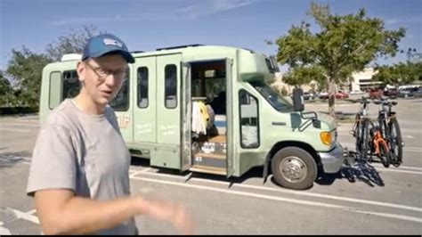 Couple Converts Ford Shuttle Bus Into RV To Visit All