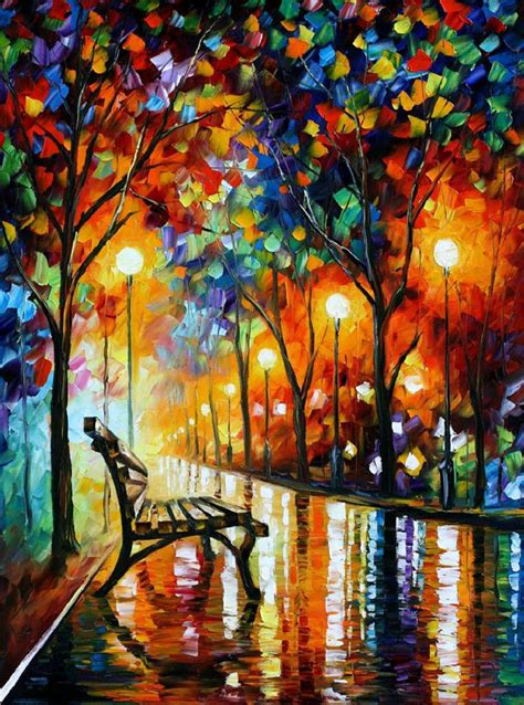 Vibrant, Colorful Paintings Created With A Palette Knife