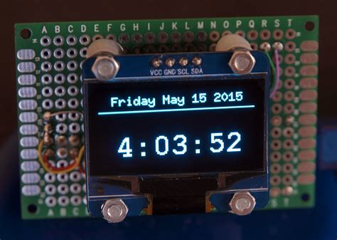 DIY: OLED graphic 128x64 on perf board with arduino nano