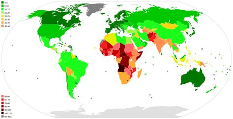 File:Infant mortality map of the world
