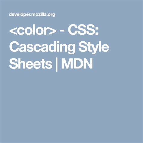 - CSS: Cascading Style Sheets | MDN | Cascading style