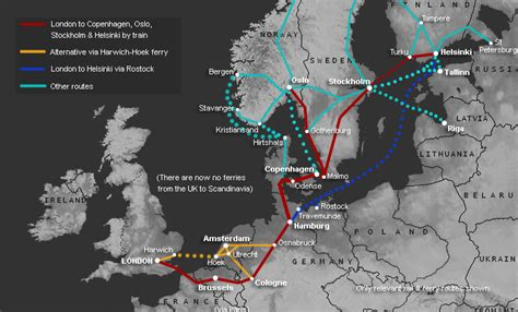 How to travel by train or ferry from London to Riga & Latvia
