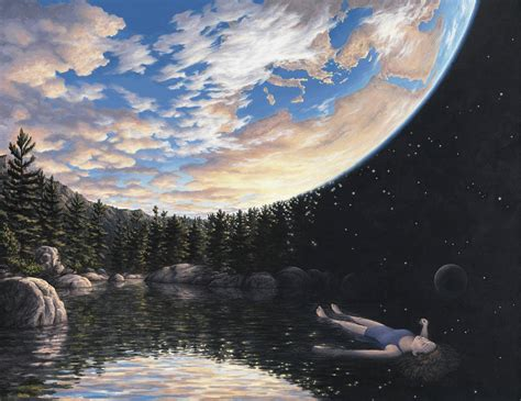 Some Incredible paintings of Rob Gonsalves - Meen Curry
