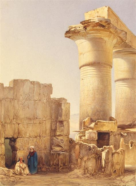 Street in an Oriental City with the Ruins of an Egyptian